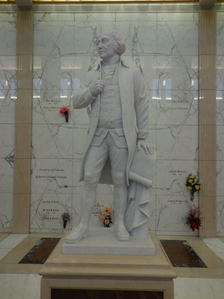 John Adams mausoleum statue in ft worth texas