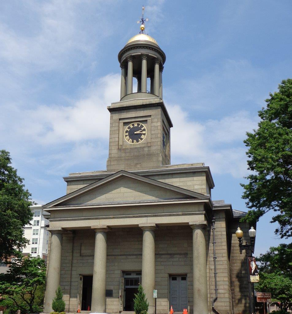 United First Parish Church - burial site of John and John Quincy Adams