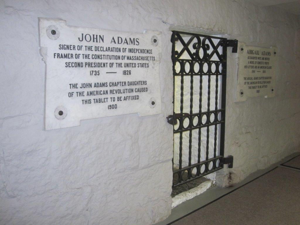 John and John Quincy Adams gravesite