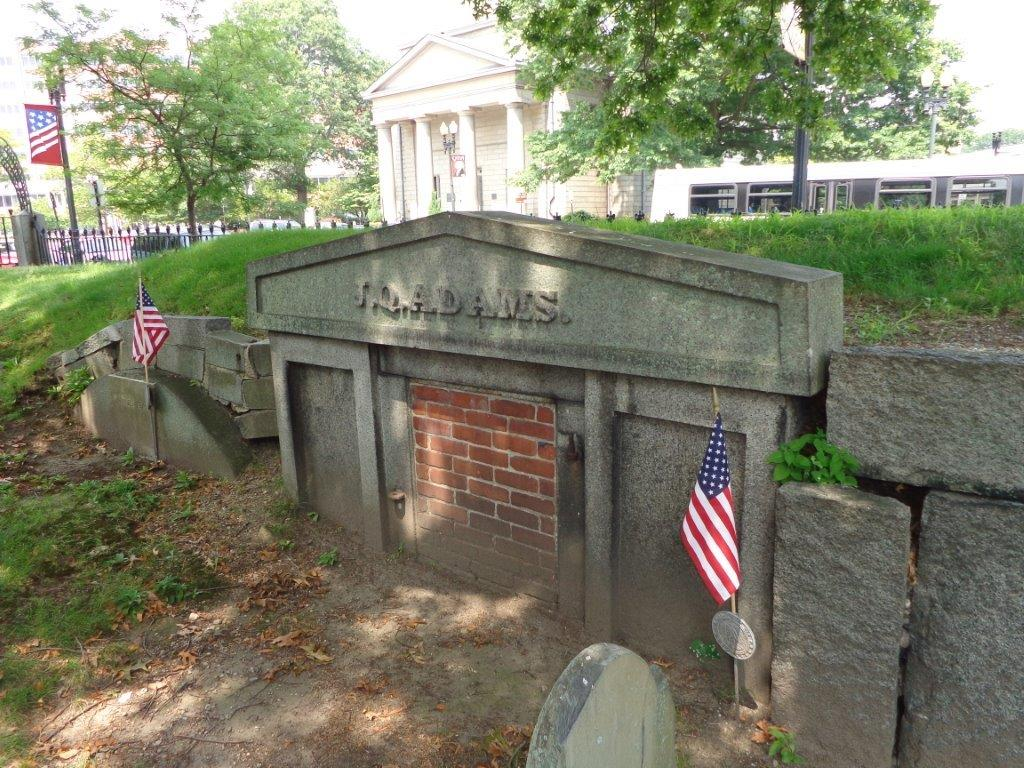 original John Quincy Adams burial location