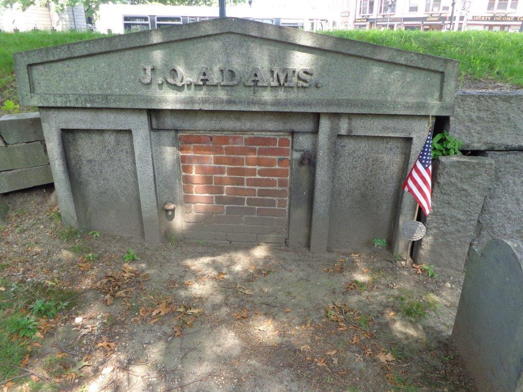 John Adams was originally buried in Hancock cemetery shown in this photograph