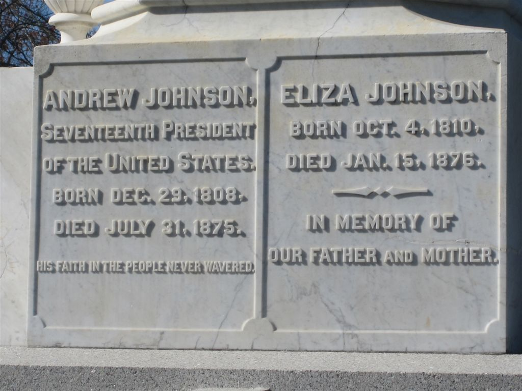 Andrew Johnson grave stone