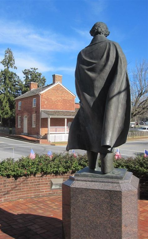 Andrew Johnson statue in Greeneville, Tennessee