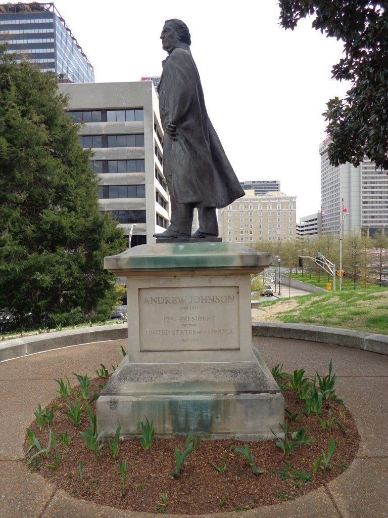 Andrew Johnson statue at the Tennessee state Capitol