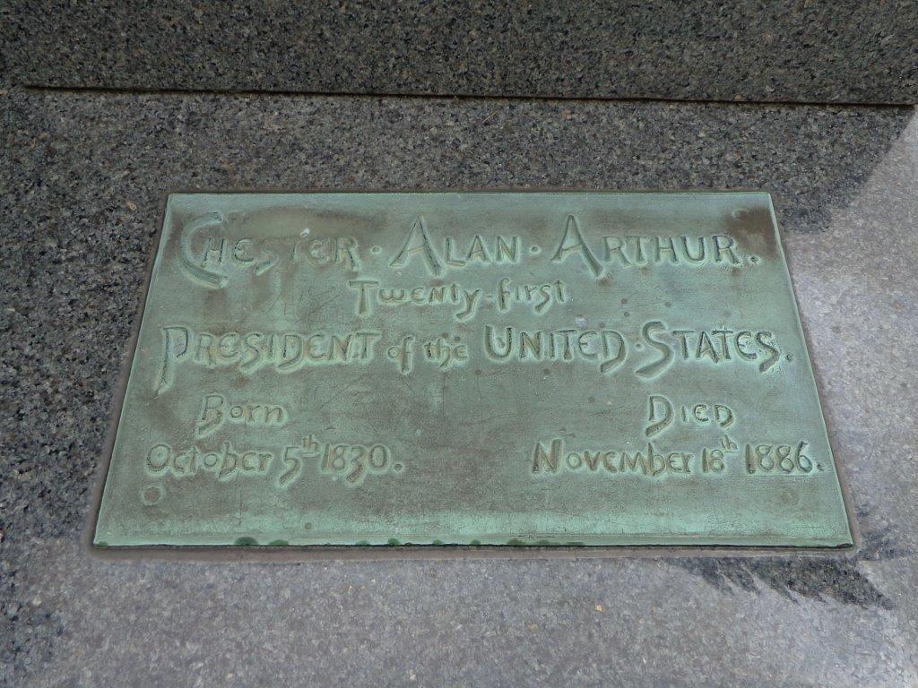 Chester Arthur grave marker