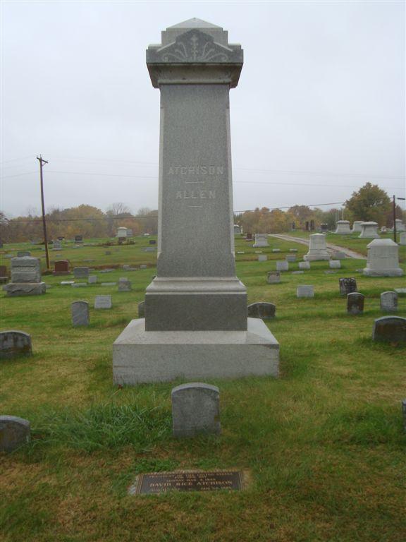 David Rice Atchison gravesite