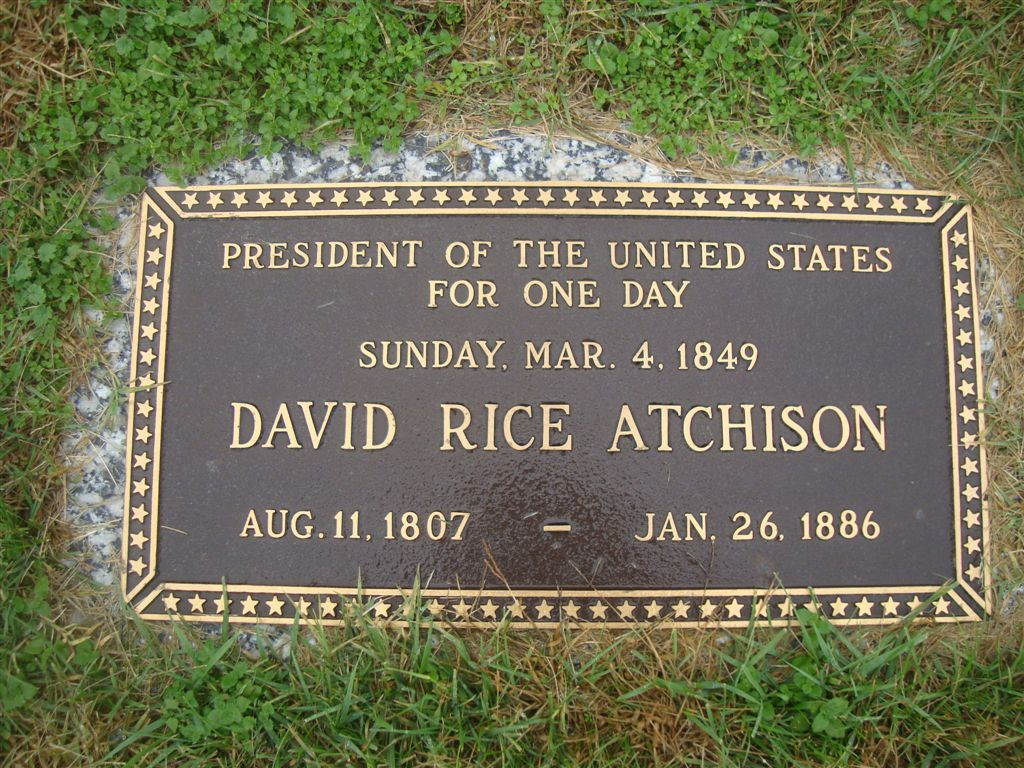 David Rice Atchison grave