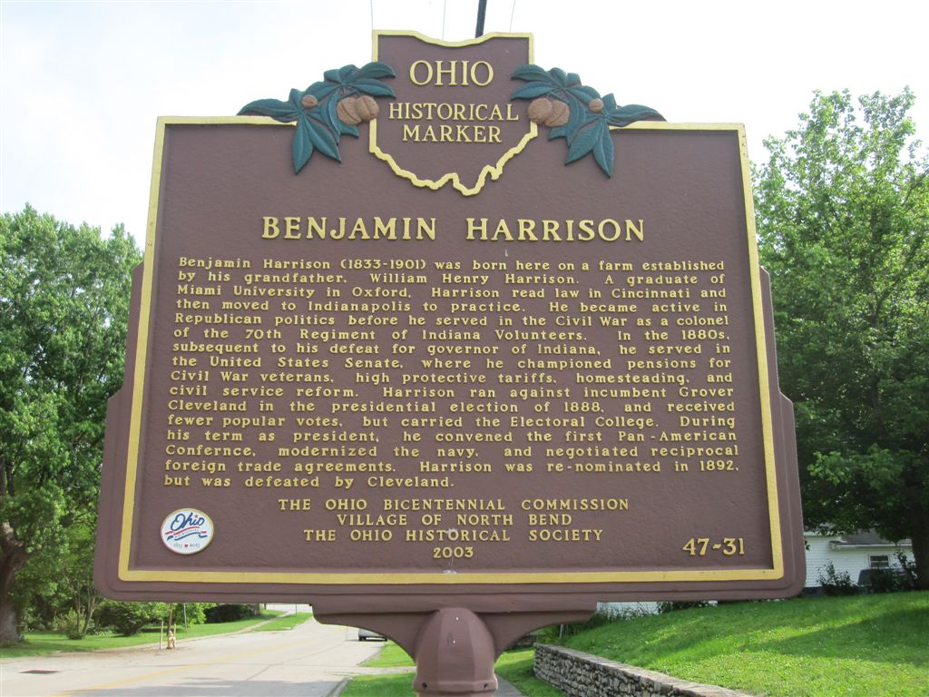 Benjamin Harrison birthplace historical marker