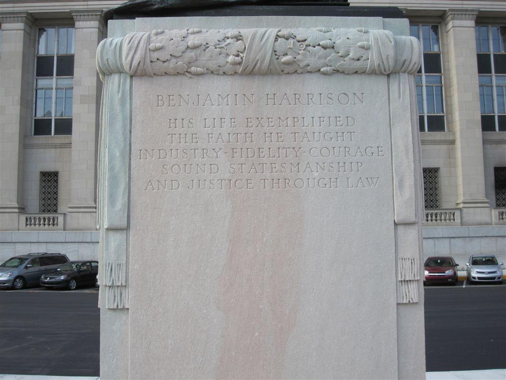 Benjamin Harrison statue in Indianapolis