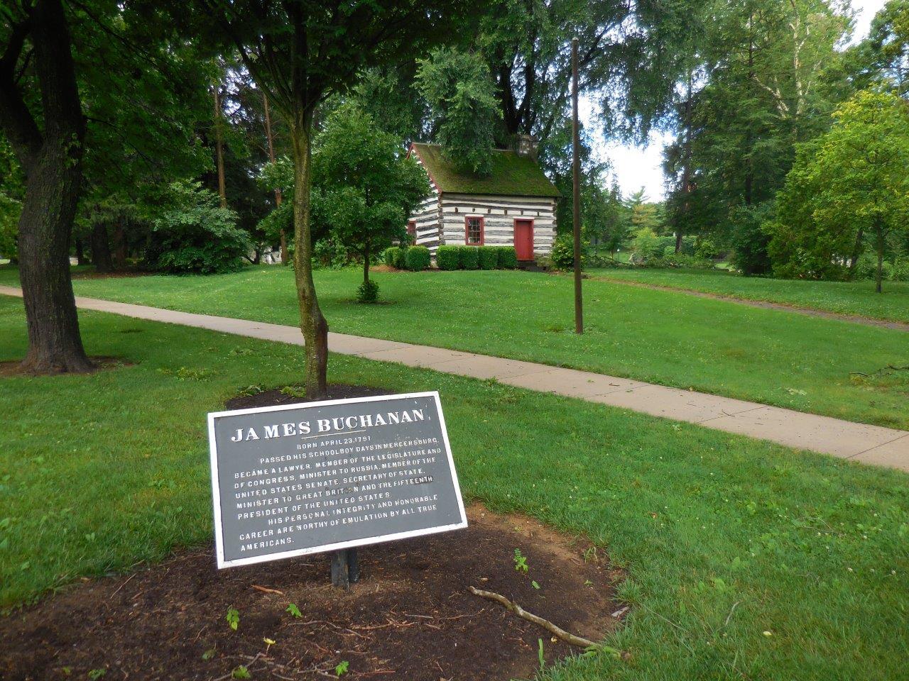 James Buchanan cabin in Mercersburg, Pennsylvania
