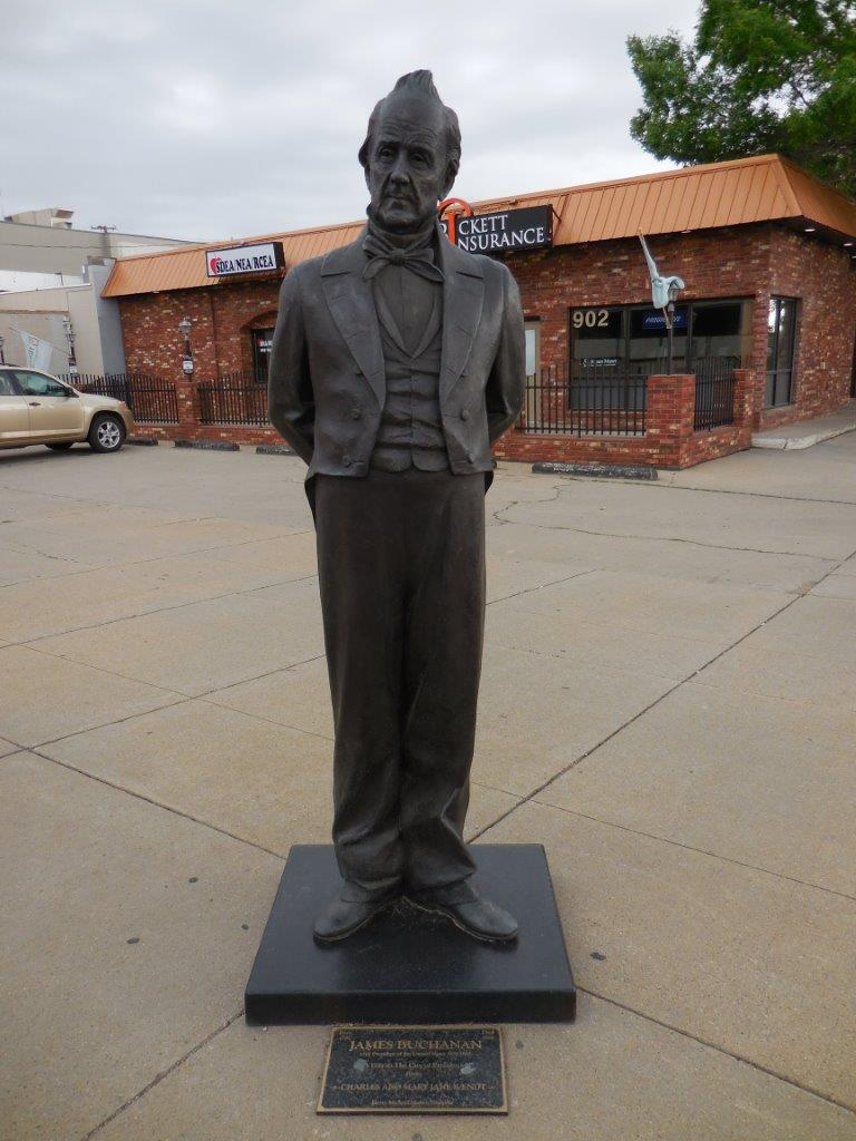 James Buchanan statue in Rapid City, South Dakota