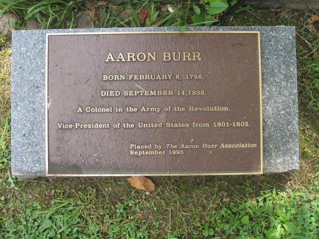 Aaron Burr Gravesite