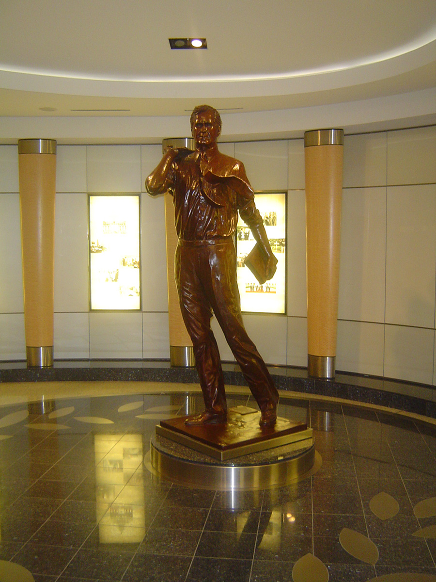 George Bush statue at Houston Intercontinental airport