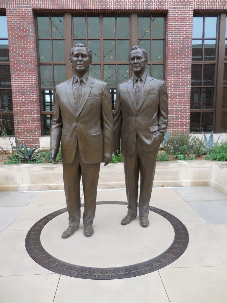 George Bushes Monument At George W Bush Presidential Library And