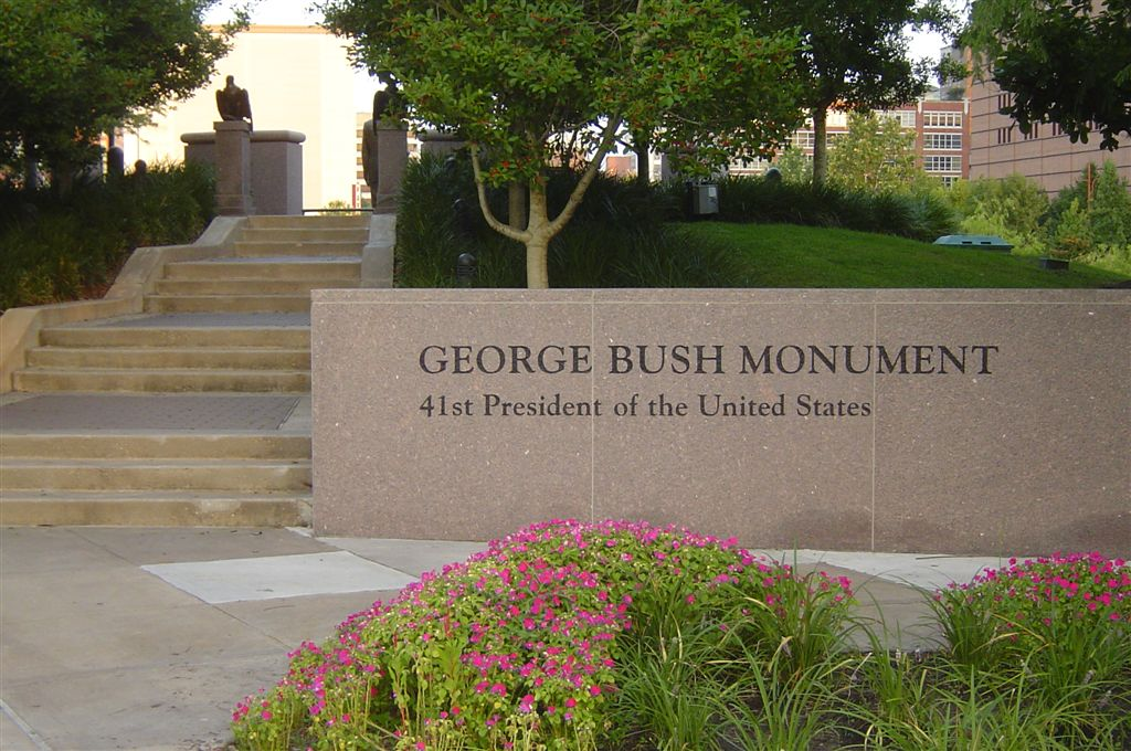 Bush monument in Houston