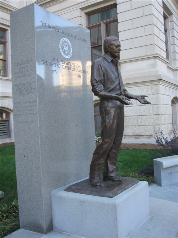 Jimmy Carter statue at the Georgia capitol