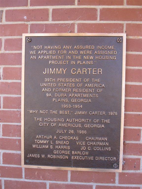 Jimmy Carter public housing in Plains, Georgia