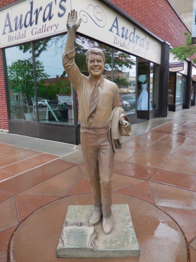 Jimmy Carter statue in Rapid City, South Dakota