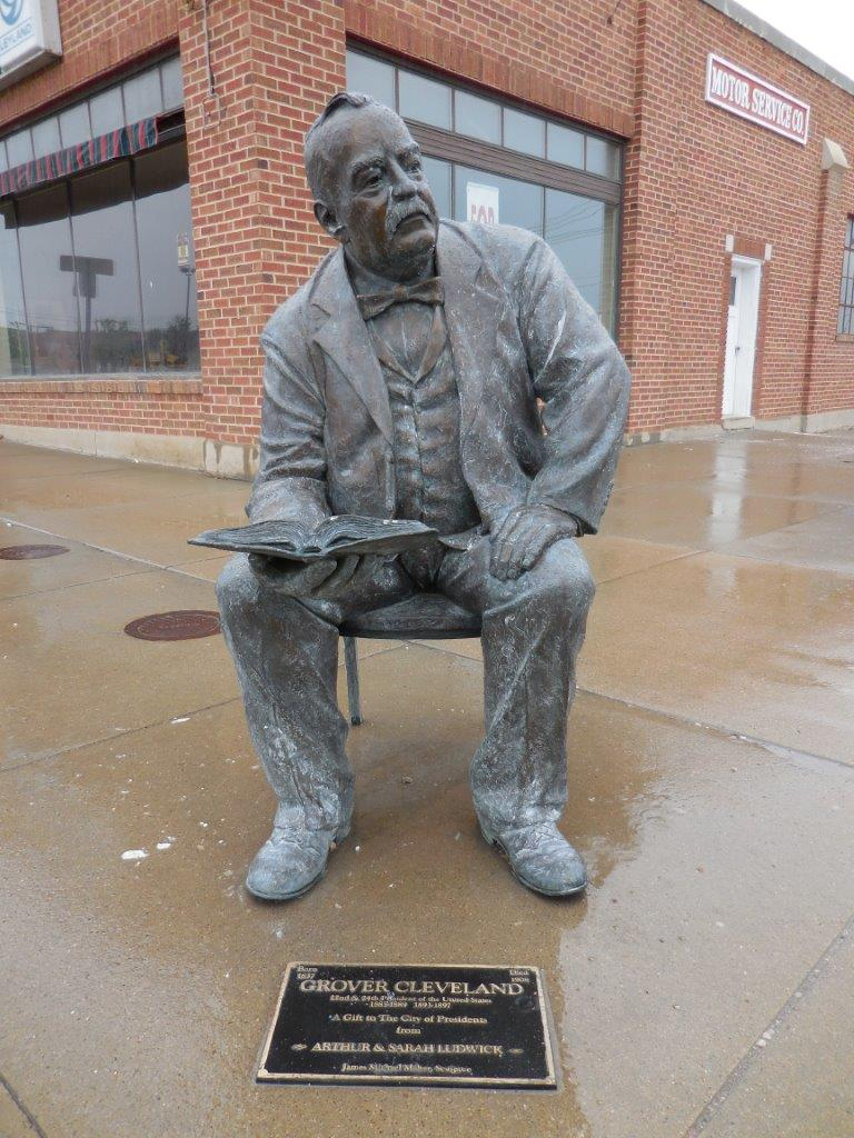 Grover Cleveland statue in Rapid City, South Dakota