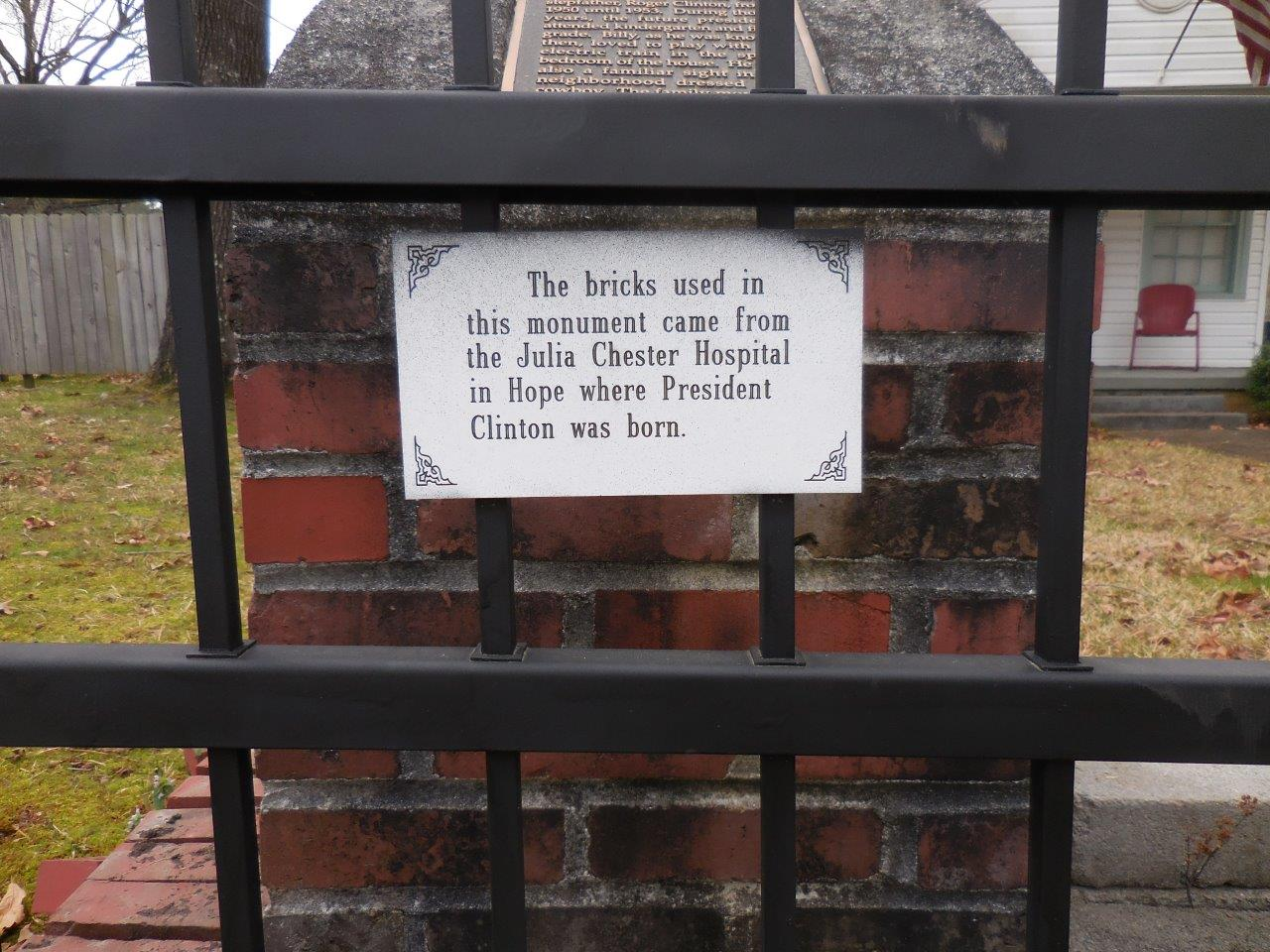 Bill Clinton historical marker
