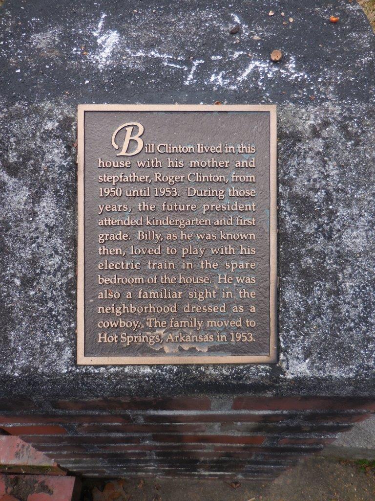 Bill Clinton historical marker - Hope