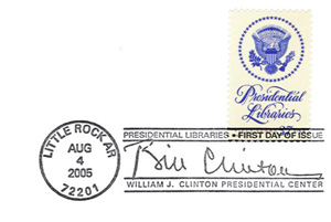 Clinton Library Stamp