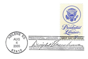 Eisenhower Library Stamp