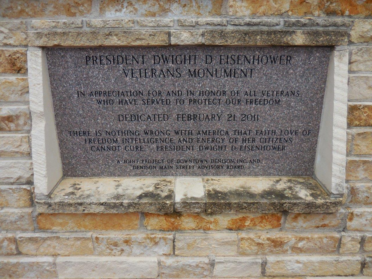 Dwight Eisenhower veterans monument