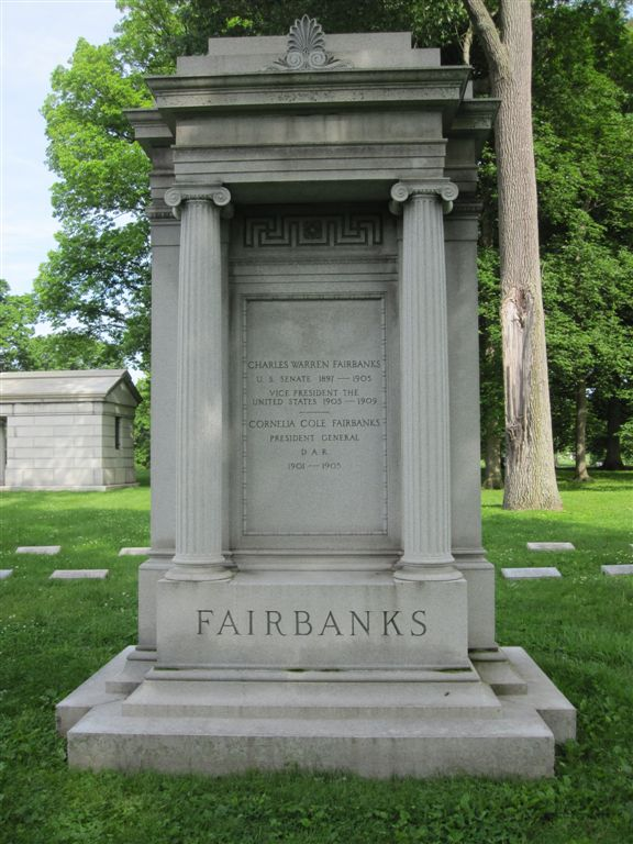Vice President Fairbanks gravesite