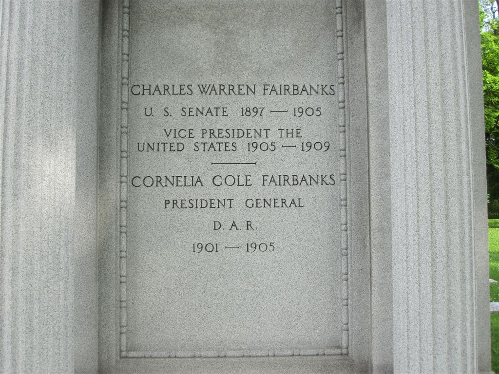 Vice President Fairbanks grave
