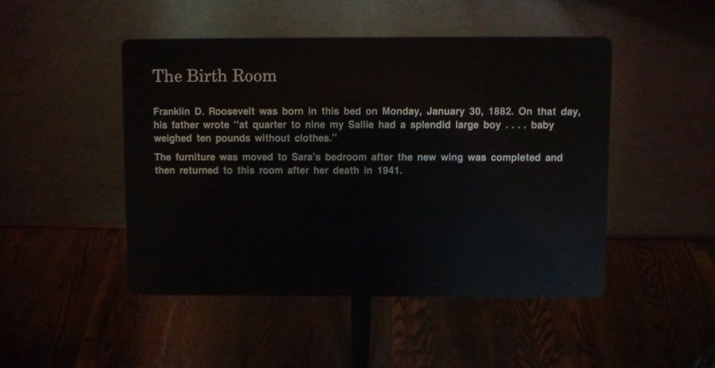 birth room explanatory card