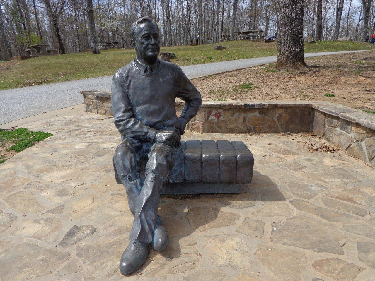 FDR statue on Pine Mountain, Georgia