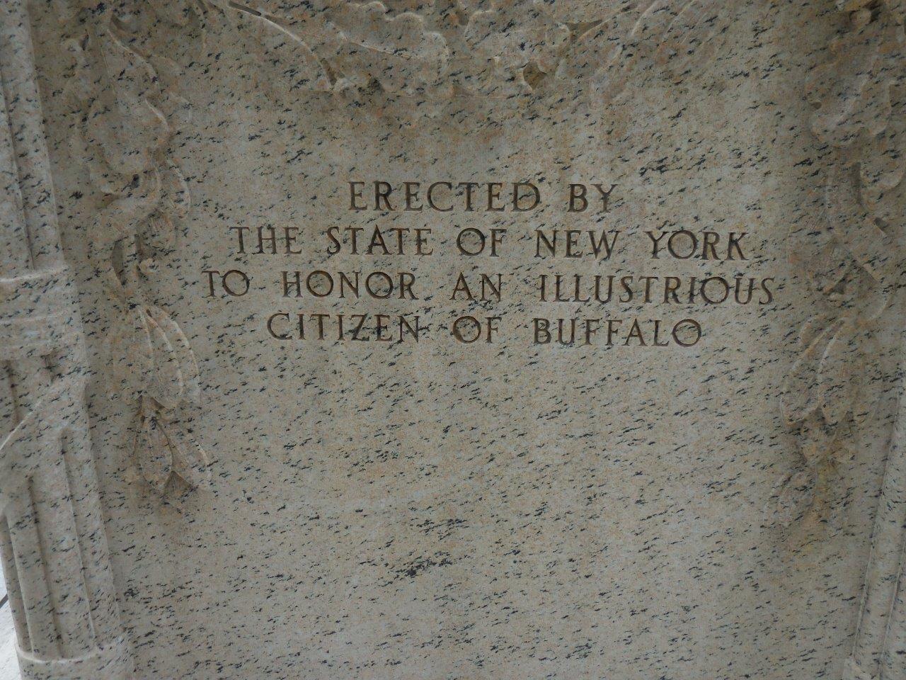 back of Millard Fillmore statue
