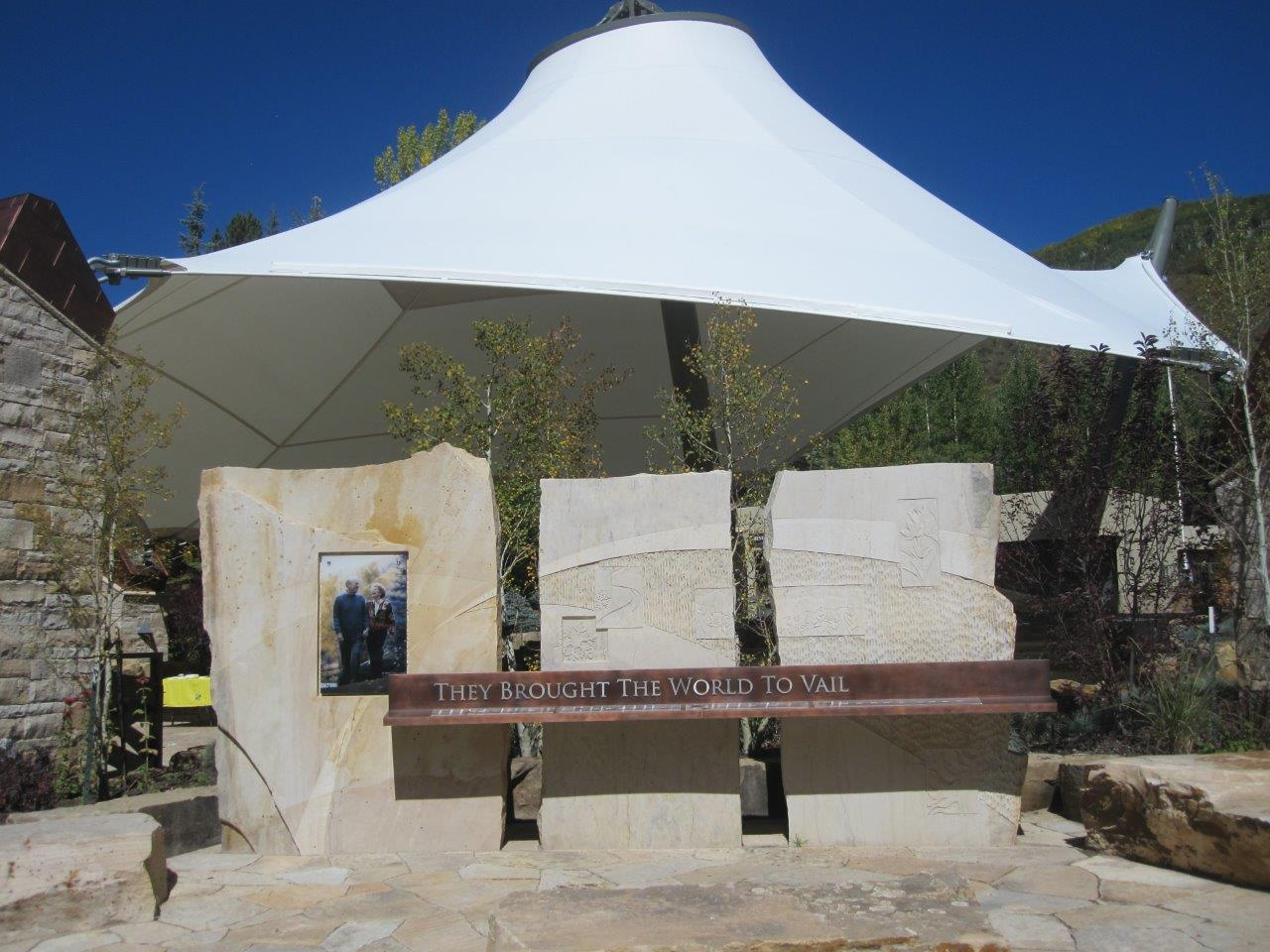 Monument to Gerald and Betty Ford at amphitheater