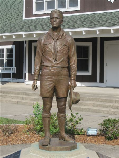 Gerald Ford Boy Scout Statue Grand Rapids Michigan