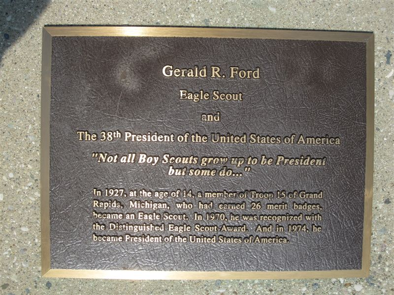 Gerald Ford Boy Scout Statue