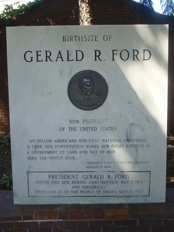 Monument marking Ford birthplace