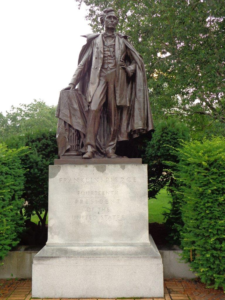 Franklin Pierce statue in Concord New Hampshire