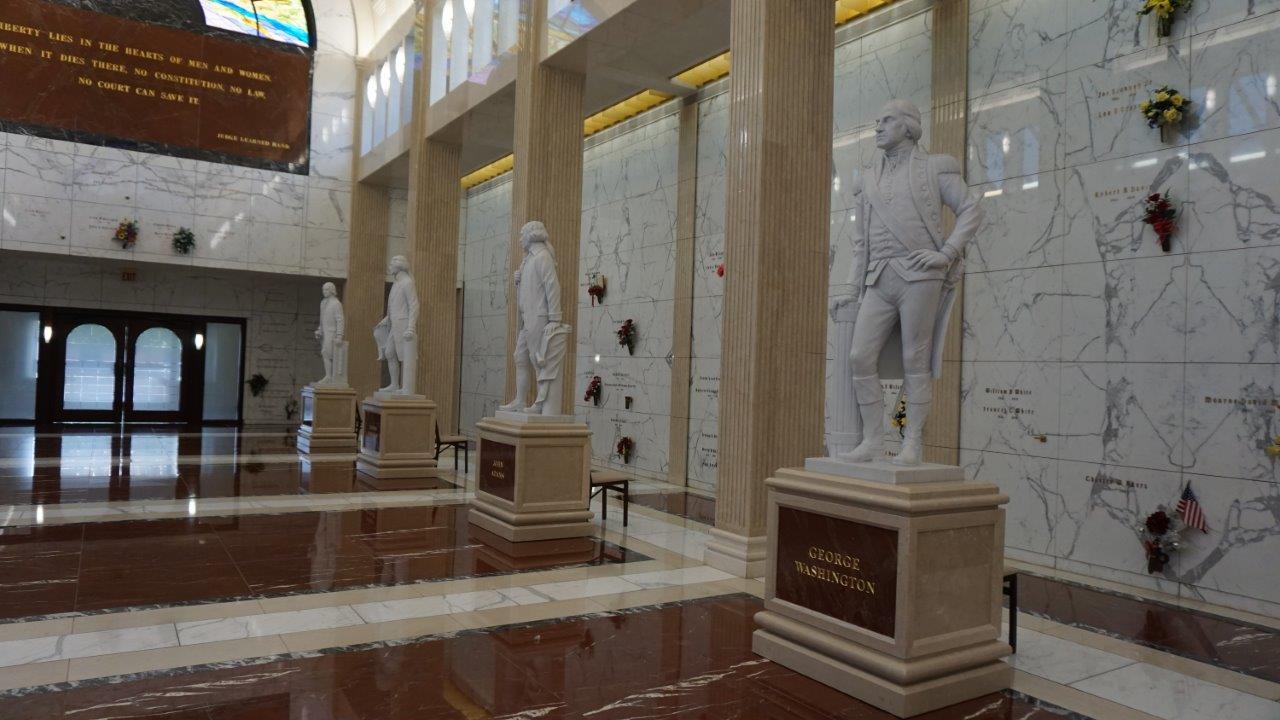 Greenwood mausoleum Presidential statues