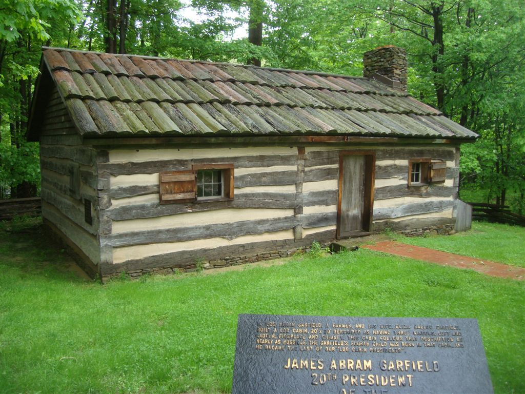 James Garfield birthplace cabin
