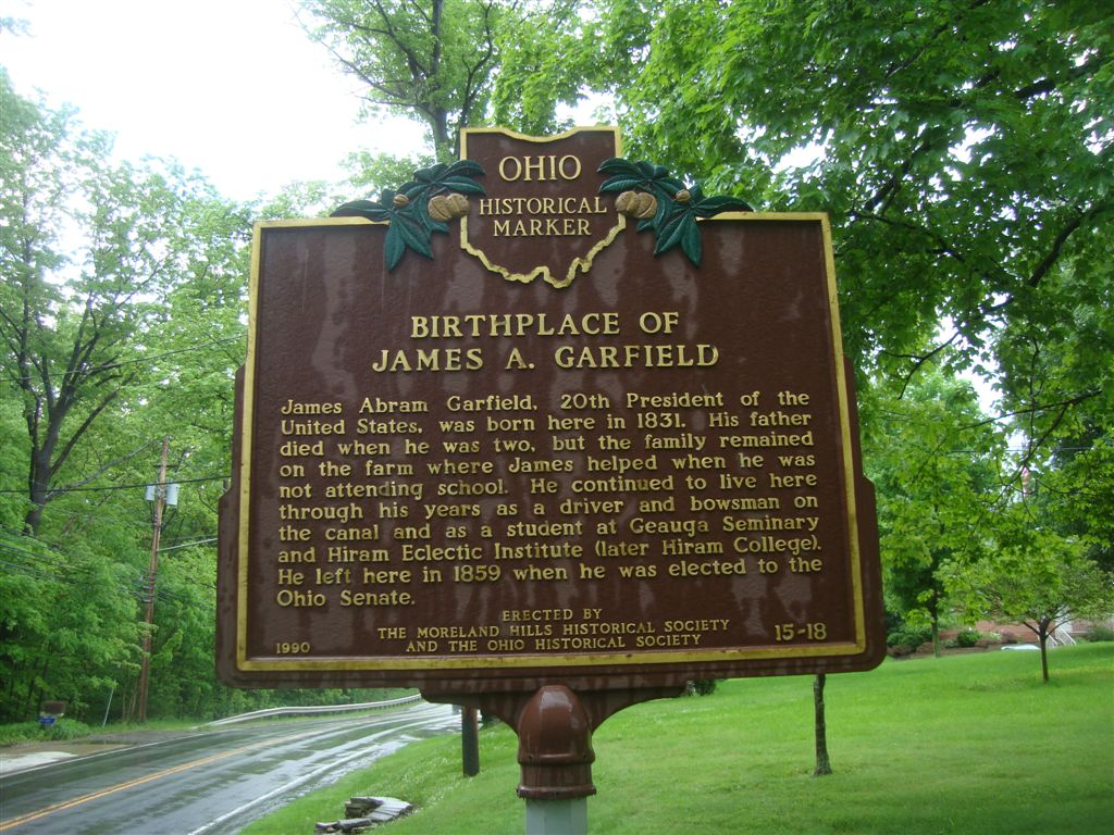 James Garfield birthplace historical marker