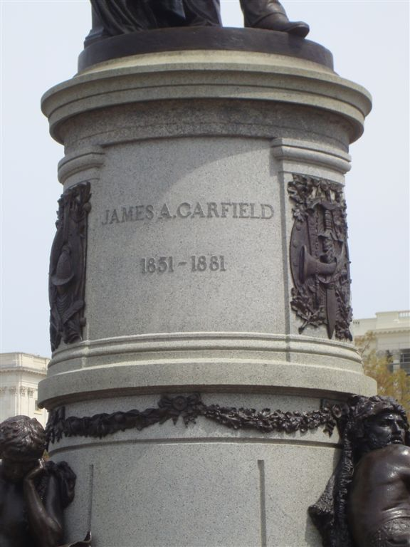 James Garfield statue at the US Capitol