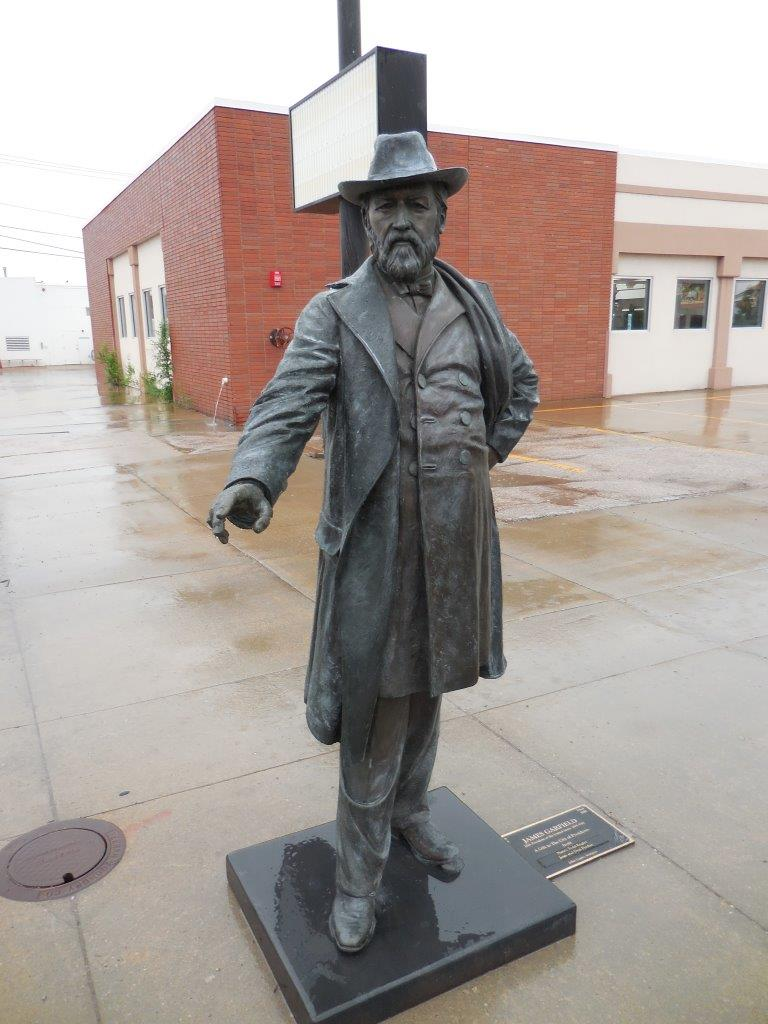 James Garfield statue in Rapid City, South Dakota