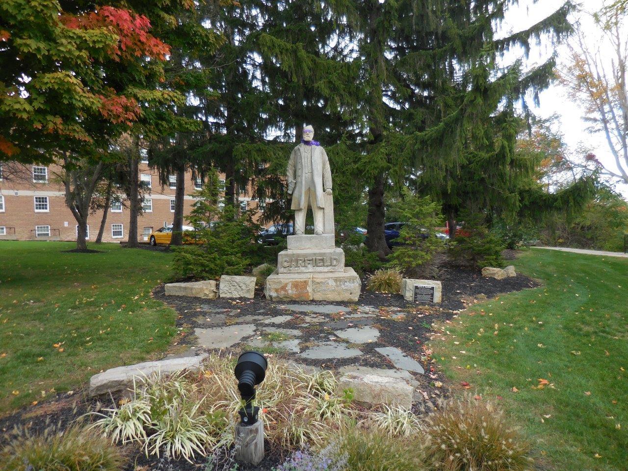 James Garfield statue in Hiram, Ohio