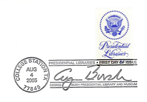 George H. W. Bush Library Stamp