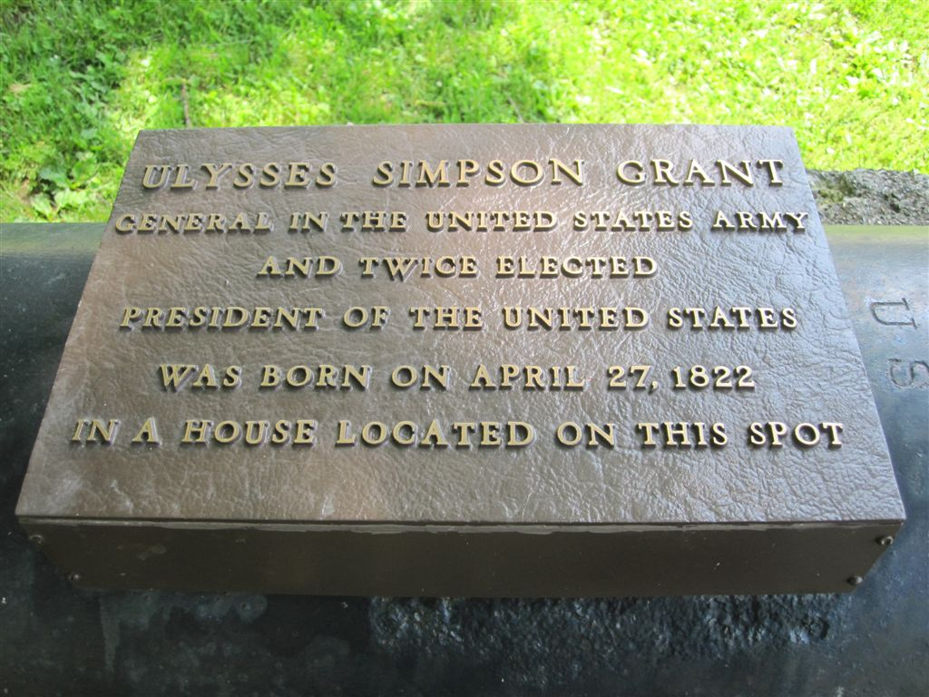 Ulysses S. Grant birthplace historical marker