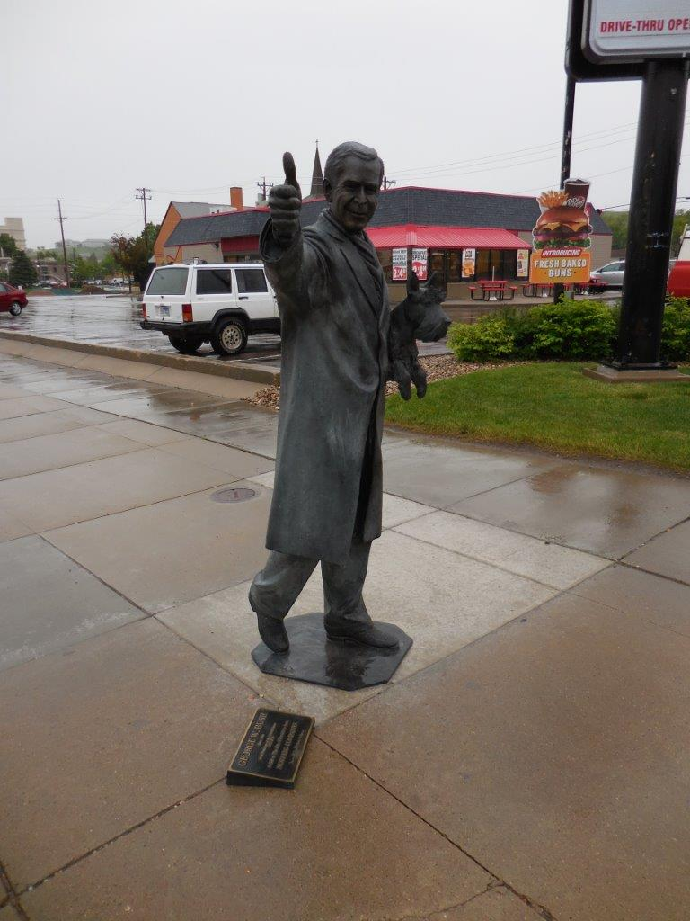 George W. Bush statue in Rapid City, South Dakota