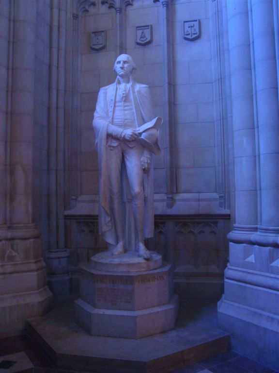 George Washington statue at National Cathedral in Washington