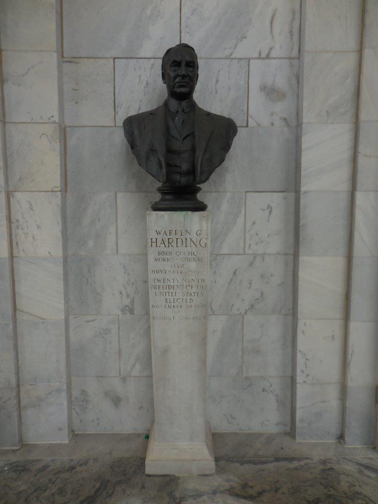 Warren Harding Bust in Niles, Ohio