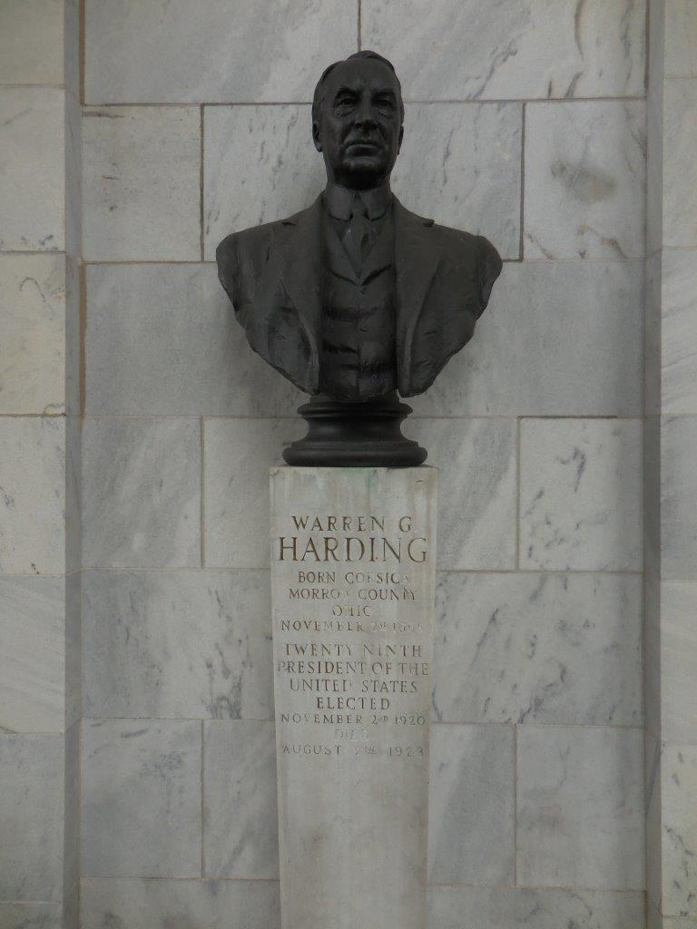 Warren Harding Bust at the William McKinley National Memorial in Niles, Ohio
